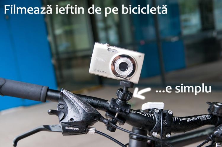 filmare bicicleta