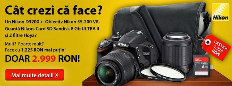 oferta nikon d3200 f64