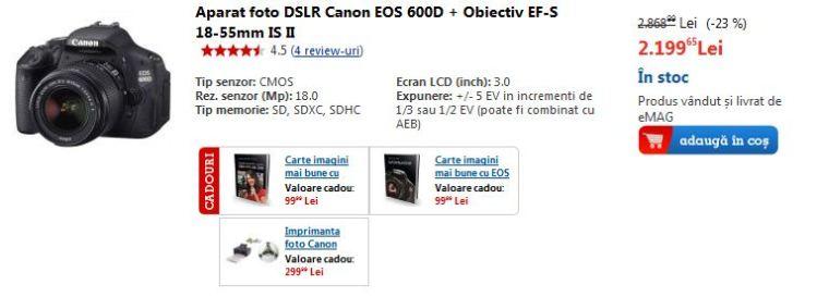 reducere-oferta-canon-eos-600d-black-friday-pret