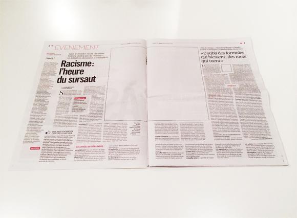 Ziarul Liberation fara fotografii